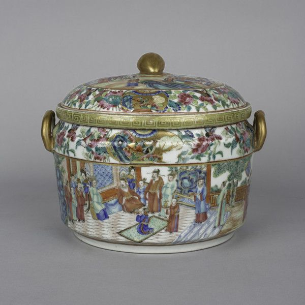 canton food warmer cover and liner 1830 to 1860 china the british antique