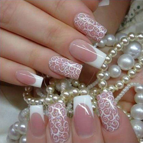 48 best wedding nail art design ideas wedding nails wedding 48 best wedding nail art design ideas prinsesfo Gallery