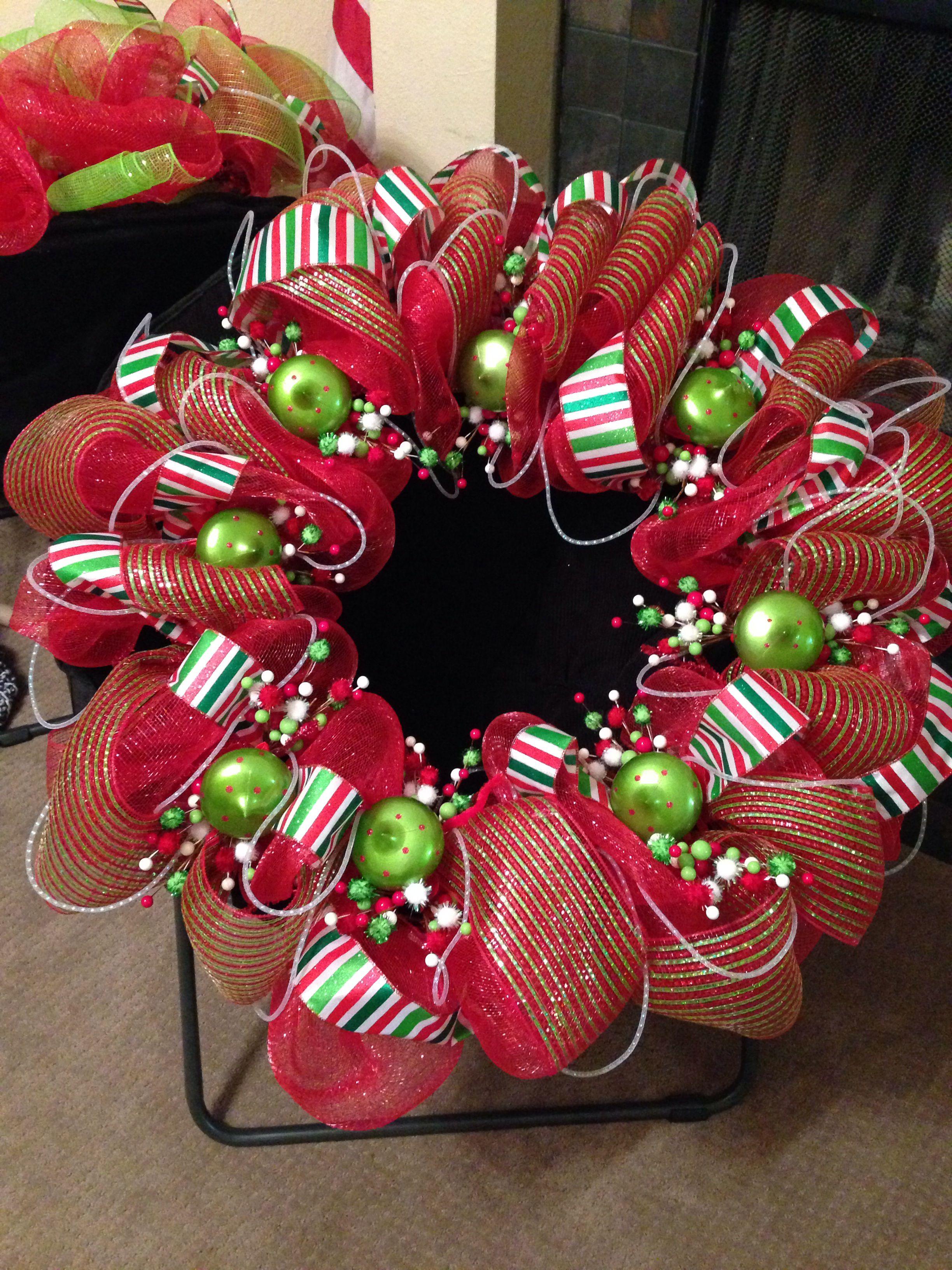 Deco Mesh Christmas Wreath Christmas Mesh Wreaths