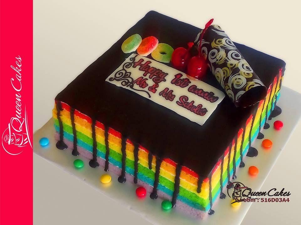rainbow cake chocolate ganache cake rainbow size 18 decorative