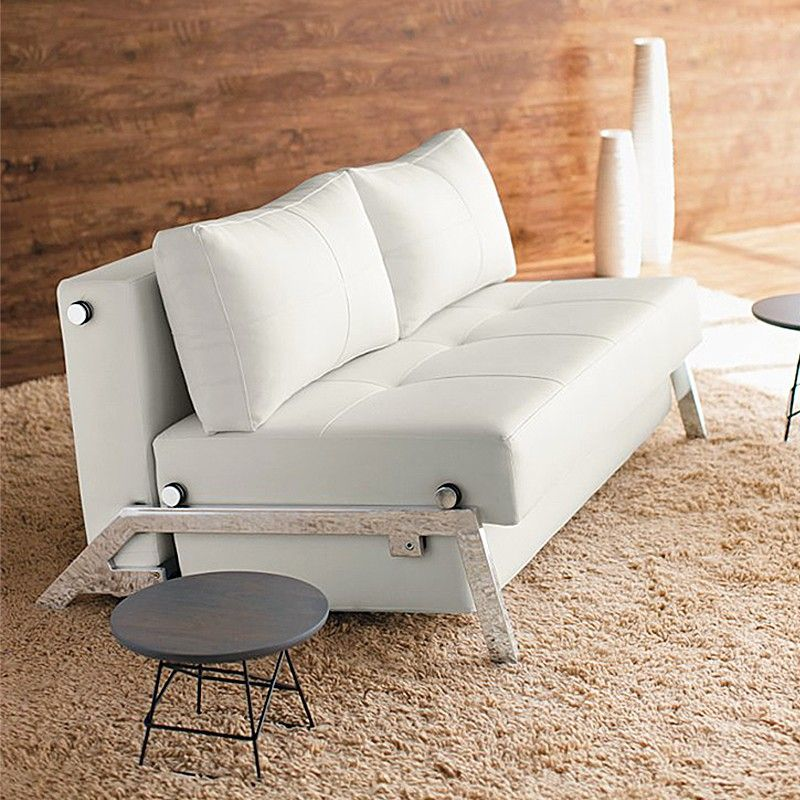 Cubed Deluxe White Leather Convertible Sofa   Replace Your Darker Winter  Colors With Some Light Fabrics. Spring Is The Best Time To Renovate For The  New ...