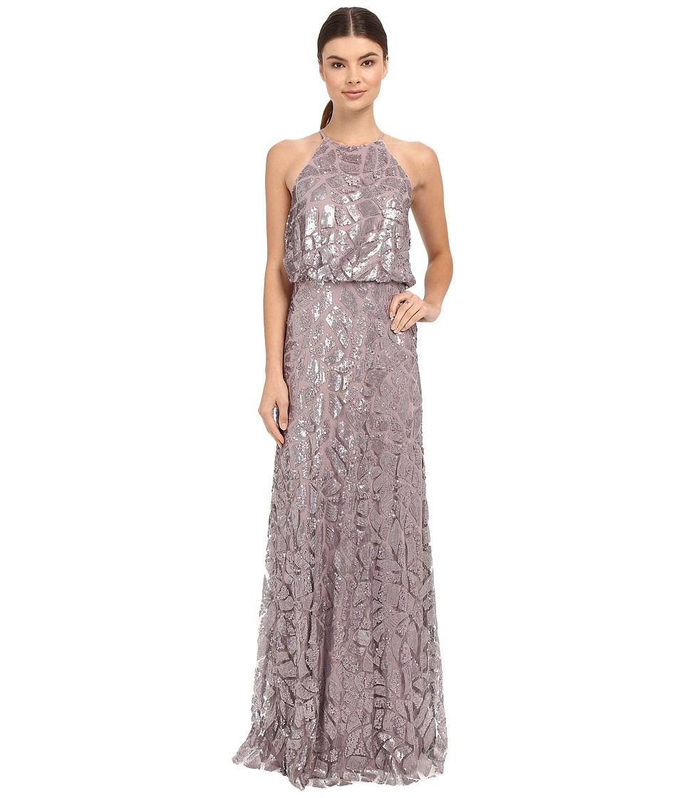Donna Morgan Halter Sequin Grey Ridge Women S Dress Donnamorgan