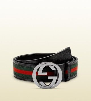 cb5451880a1 Gucci Green Red Green Signature Web with Interlocking G Buckle Us ...