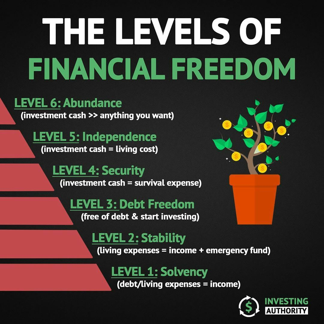 The Levels Of Financial Freedom Money Management Advice Finance Investing Investing