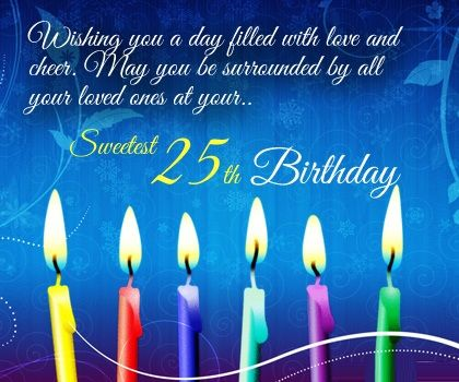 25th birthday wishes quotes cards and messages birthday wish 25th birthday wishes quotes cards and messages bookmarktalkfo Choice Image