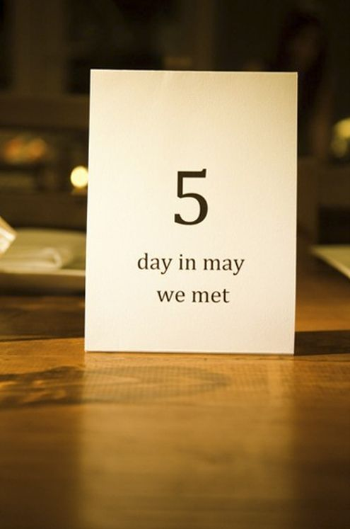 Great idea for table numbers..