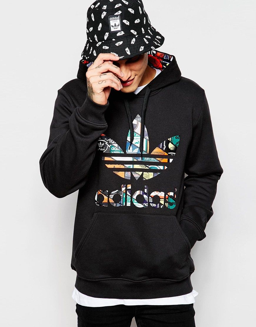 Hoodie · adidas Originals Hoodie With Printed Trefoil AC0485
