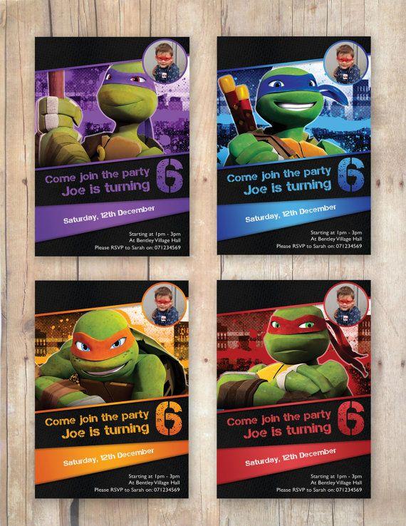 Ninja Turtle Birthday Invites