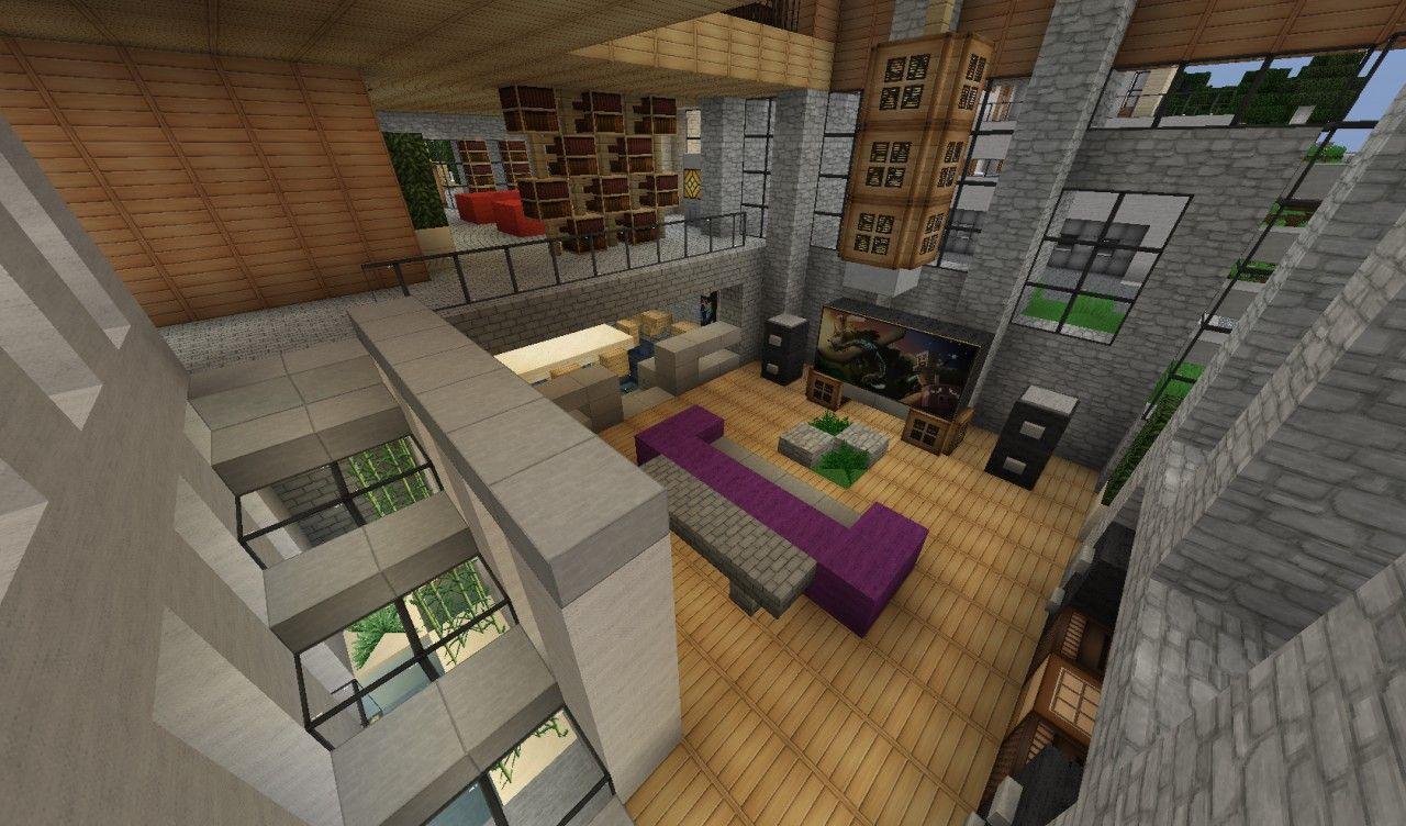 Sunset Hills Home World Of Keralis Server Minecraft Project Minecraft Interior Design Minecraft Interior Minecraft House Designs Living room ideas keralis