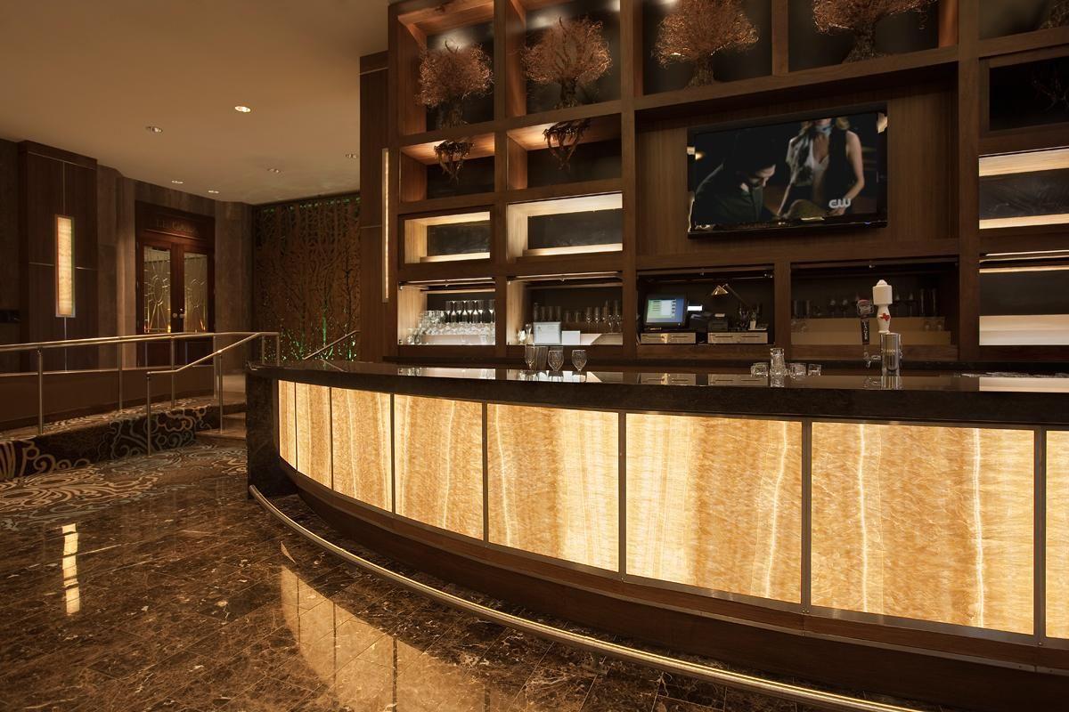 Lighted glass panels | Dream Home | Bar interior design
