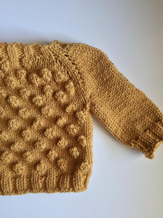 6b63be27e01f Hand Knit Bobble Sweater