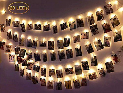 Dadiii 20 LED Photo Clip String Lights Christmas Lights for Hanging