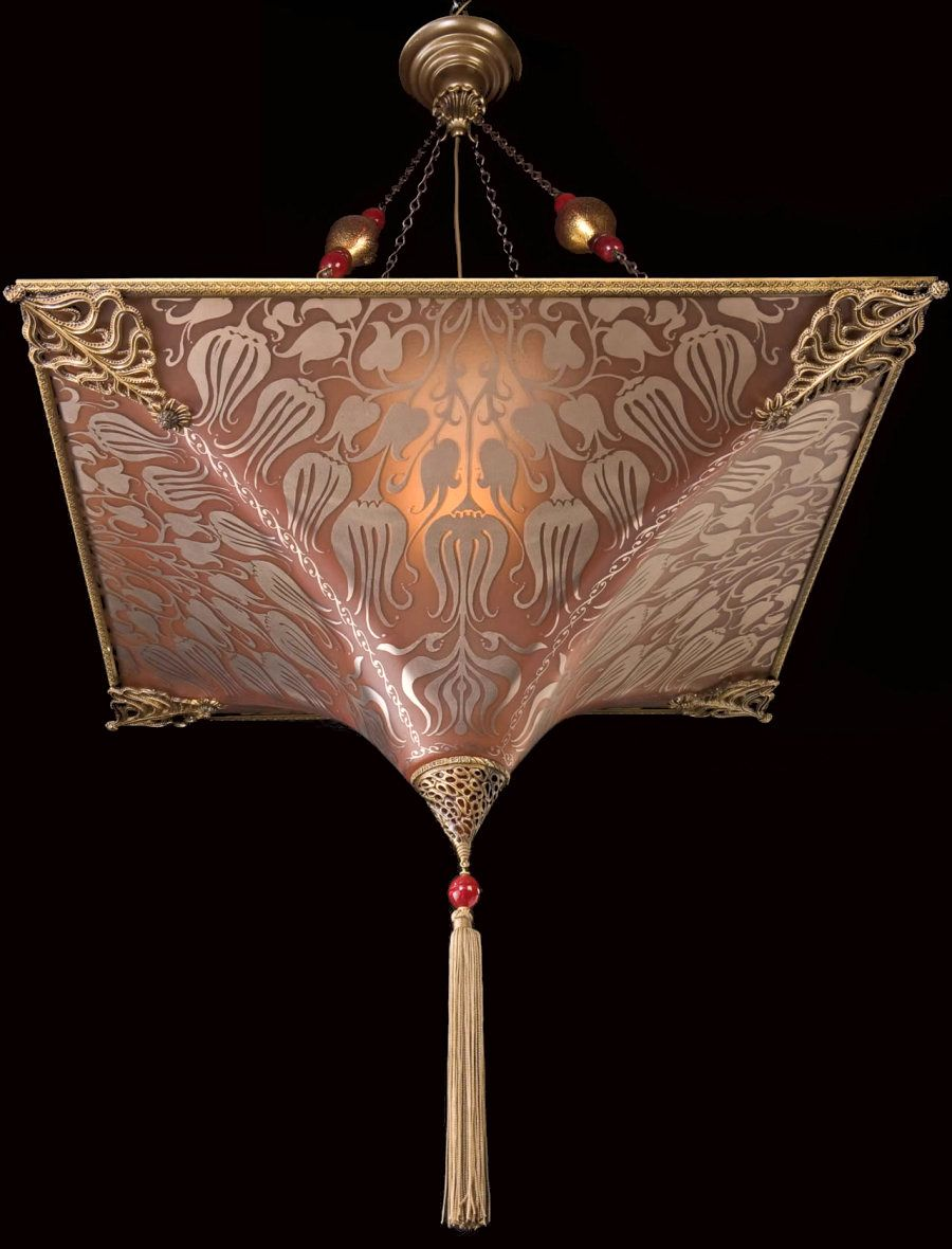 Mariano Fortuny Décorateur Lampe Suspension