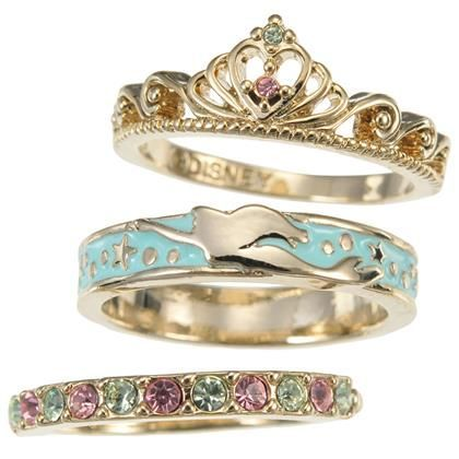 Little Mermaid Ariel 3 Piece Ring Set From Disney Mermaid Jewelry