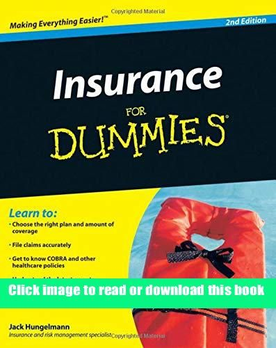Kindle Insurance For Dummies Book Pdf Free Download In 2020 Dummies Book Kindle Reading Kindle Books