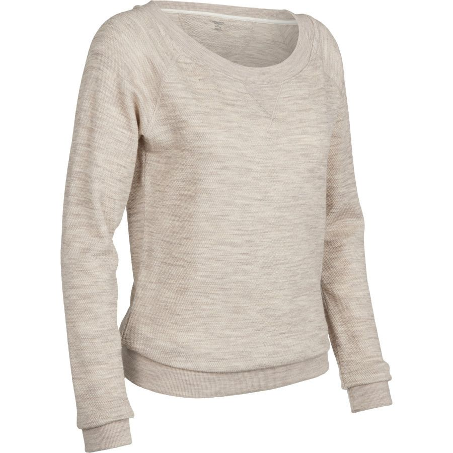 Women's Crave Long Sleeve Crewe | Merino wool sweater, Waffle knit ...