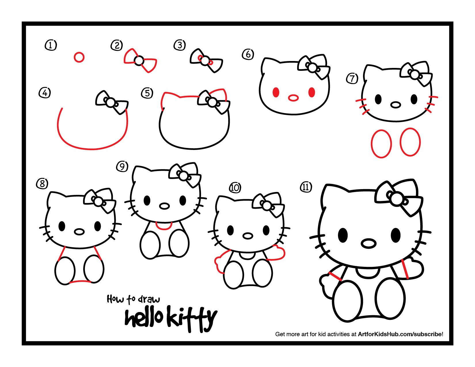 download how to draw hello kitty - Hello Kitty Drawing Pictures