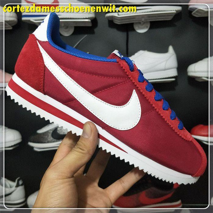 brand new f50b1 054d0 Nike Classic Cortez 488291-615 Nylon Herenschoenen Rood Wit Blauw