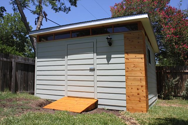 Kanga prefab modern shed kit Kanga Room Systems Backyard