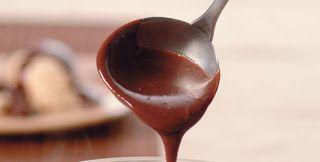Lucenas festas Calda de chocolate