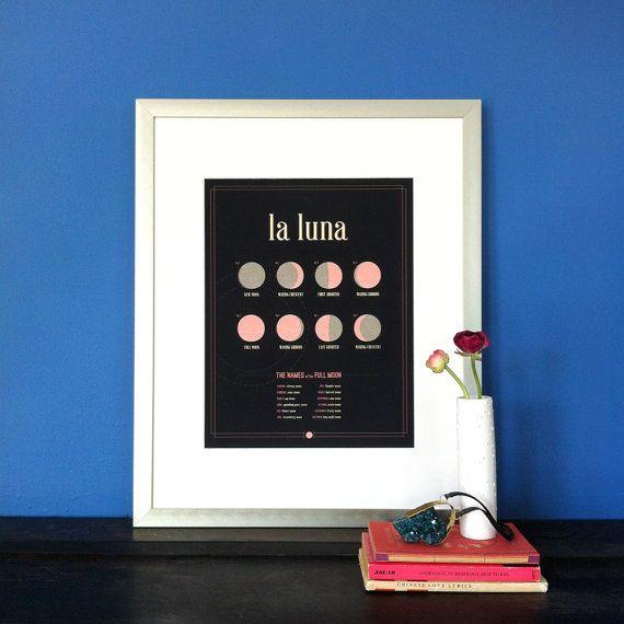 11x14 La Luna Print by JSGD on Etsy, $26.00