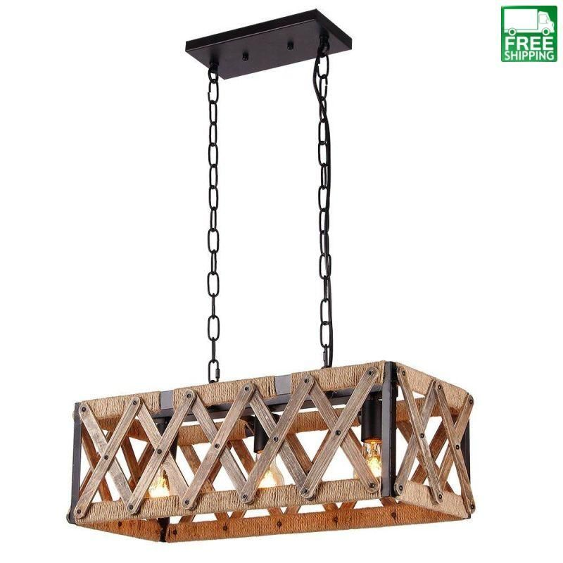 Square Caged Metal And Wood Chandelier Wood Chandelier Rustic