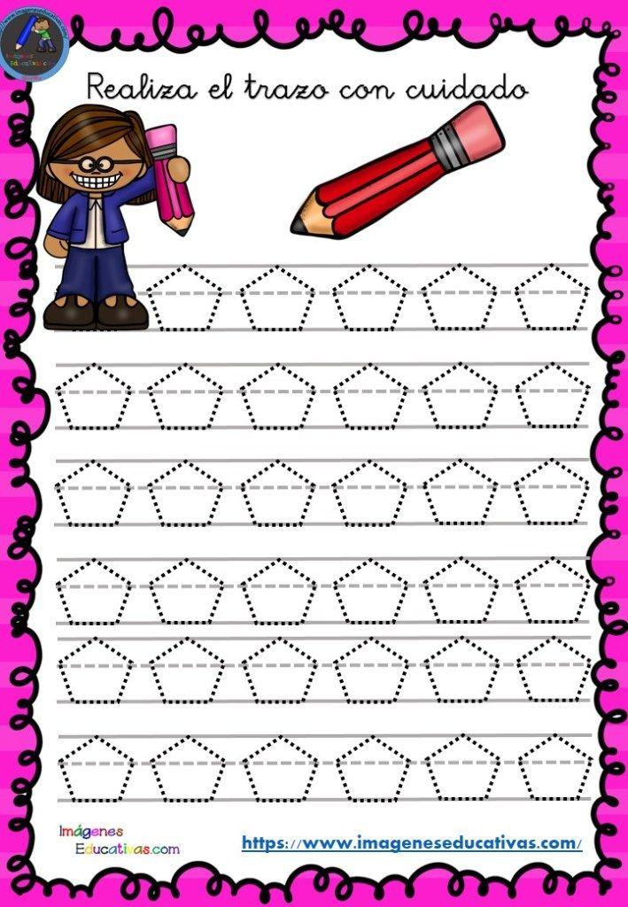 Fichas de preescritura y perfeccionamiento de caligrafía (14) - Imagenes Educativas