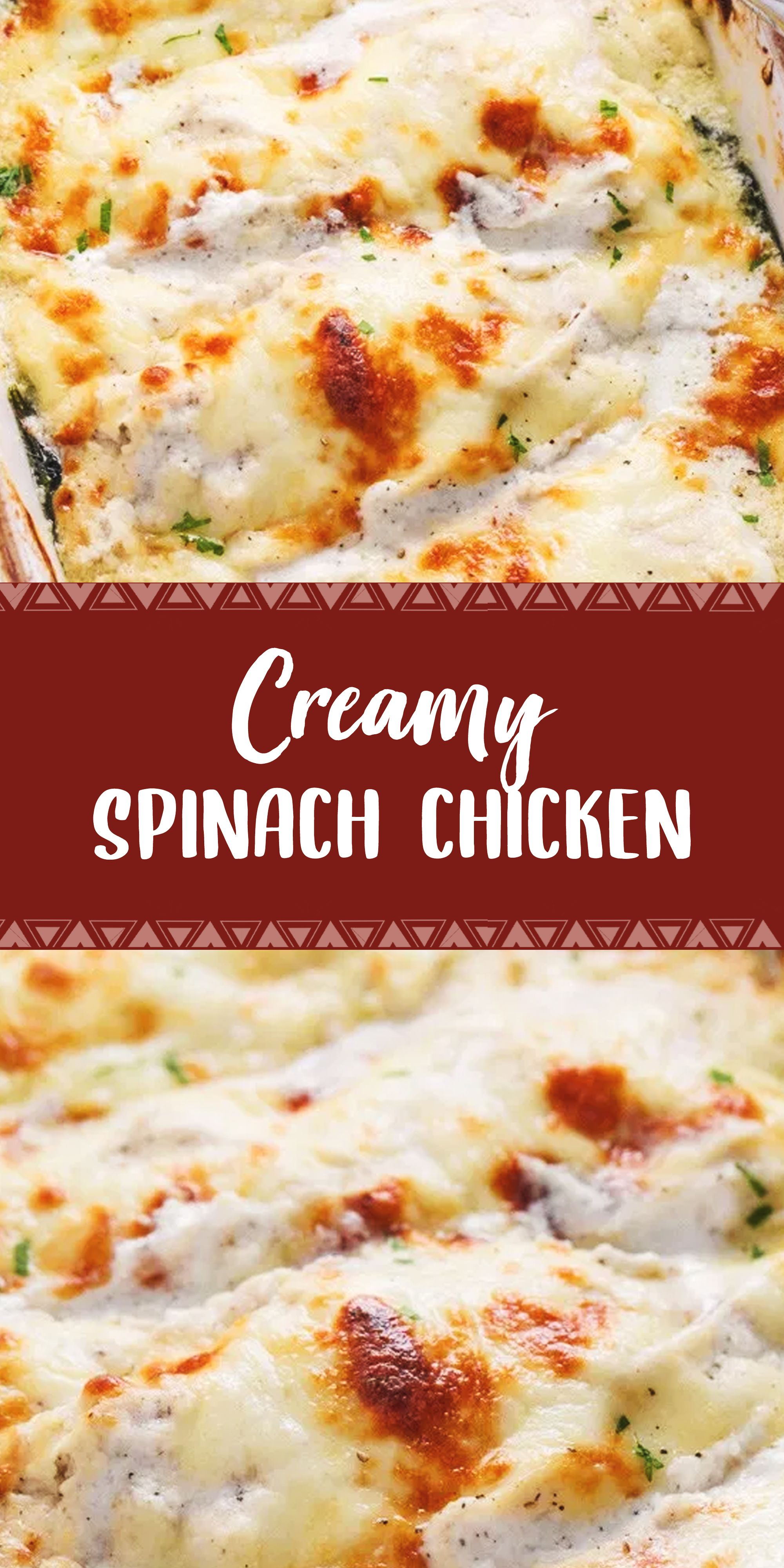 Creamy Spinach Chicken In 2020 Creamy Spinach Chicken Healthy Food Recipes Clean Eating Chicken Crockpot Recipes