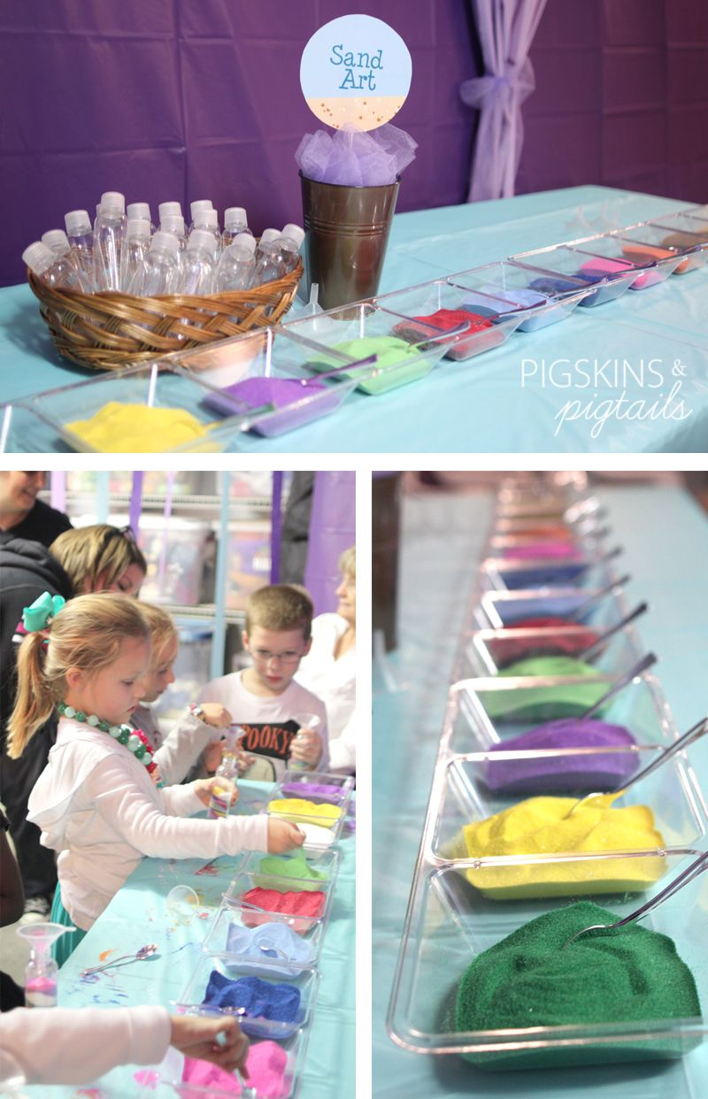 Arts and crafts party ideas - Mermaid Birthday Party