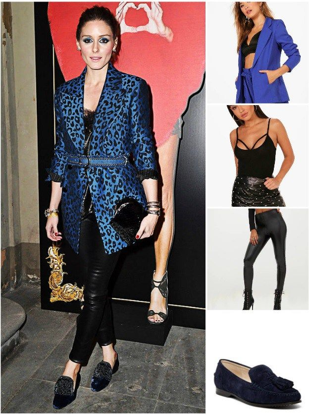 8bf7392d154 Copy Olivia Palermo s Blue Blazer And Loafer Look For Less