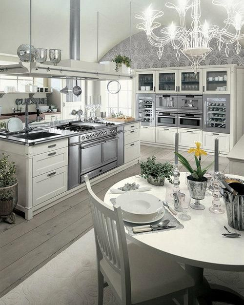 English Mood Collection of Luxury Kitchen Furniture by Minacciolo