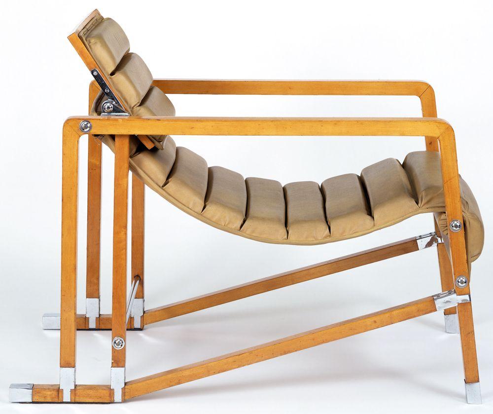 1927 transat armchair designed for e 1027 house in roquebrune by eileen gray jean badovici. Black Bedroom Furniture Sets. Home Design Ideas