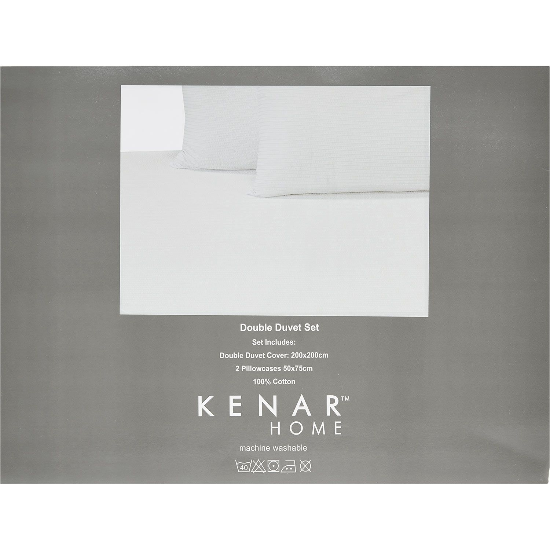 "Kenar Home"" Double Blue & White Striped Duvet Set TK Maxx £25"