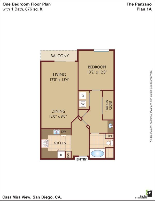 New San Diego Ca Apartments 1 2 3 Bedrooms At Casa Mira View Apt For Rent San Diego Rentals Bedroom Floor Plans