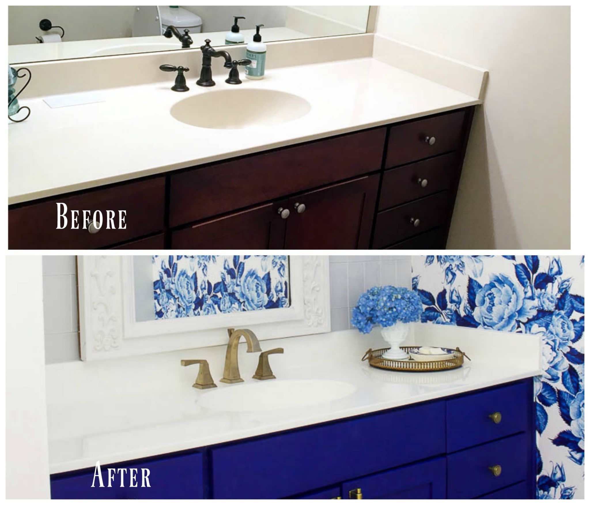 Diy Painted Bathroom Countertop And Sink Diy Bathroom Decor