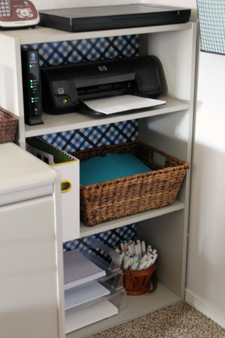 Home office reveal one room challenge week 6 for New home construction organizer