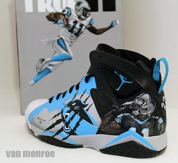 Custom Air Jordan for Carolina Panthers Brandon Lafell by Van Monroe