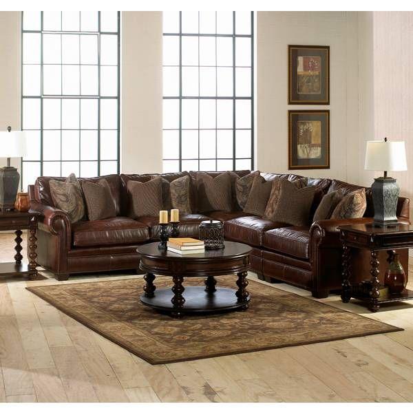 Grandview Sectional Bernhardt Star Furniture Houston Tx Furniture San Antoni Living Room Leather Leather Living Room Set Leather Living Room Furniture