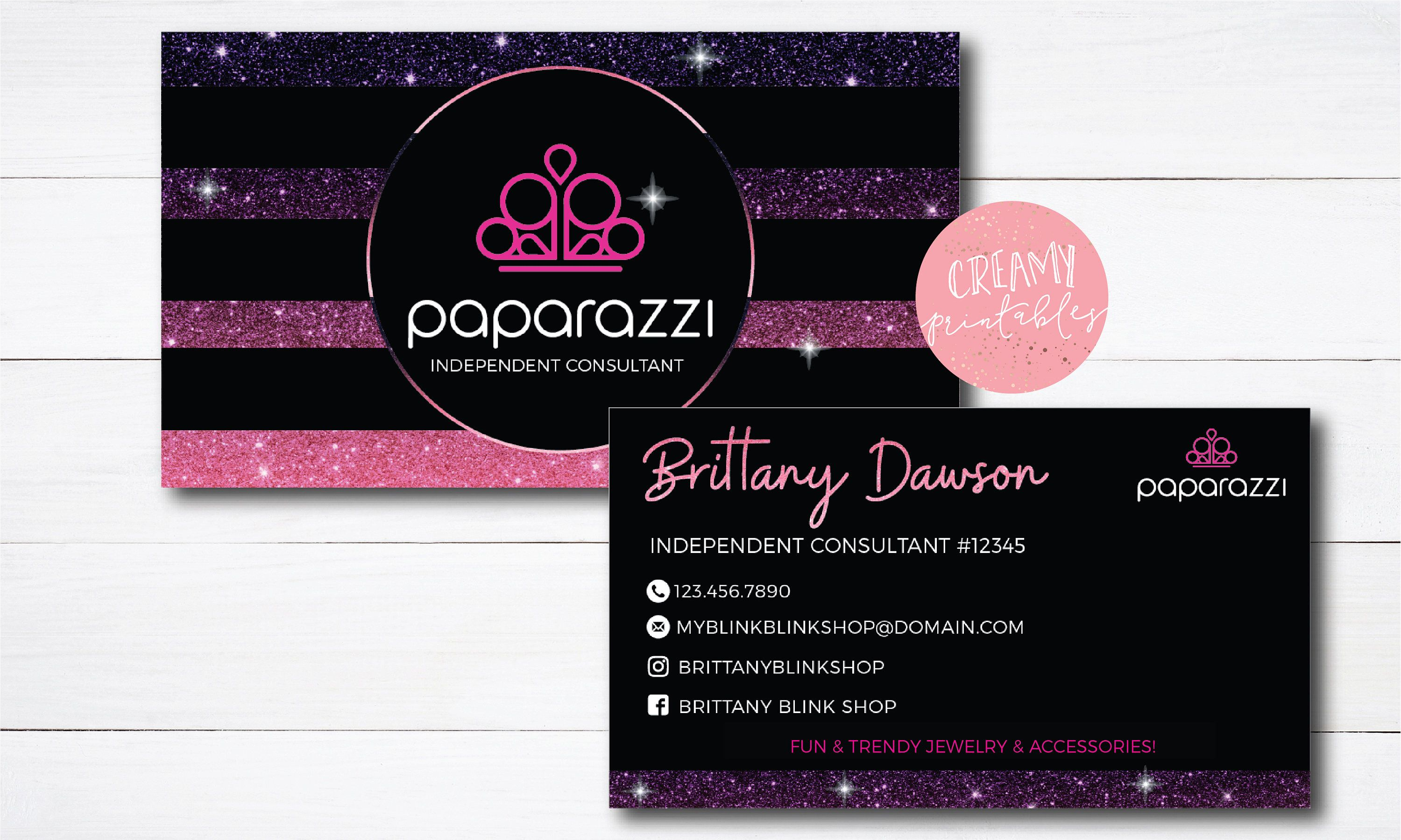 Excited To Share The Latest Addition To My Etsy Shop Paparazzi Business Cards Free Business Card Templates Printing Business Cards Vistaprint Business Cards