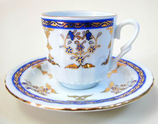 Ottoman Turkish coffee cup pattern TüRK EL SANATLARI