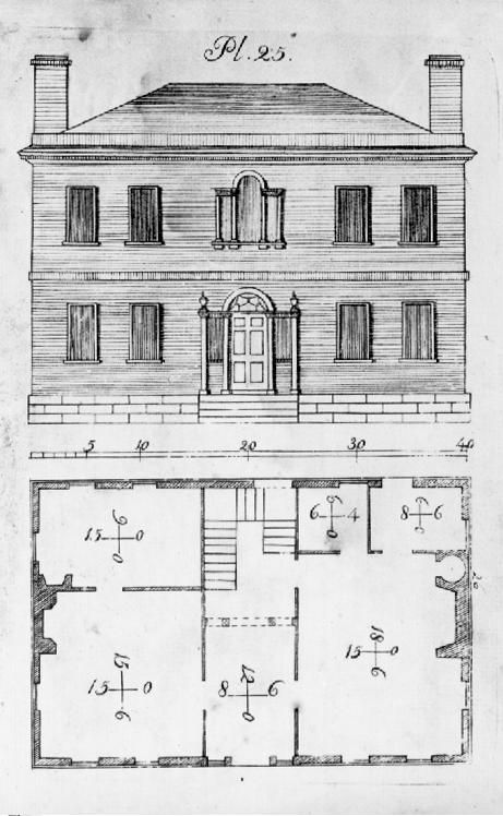 Federal Style House Plans : federal, style, house, plans, File:Asher, Benjamin,, House, Design.jpg, Federal, Style, House,, Colonial, Plans,