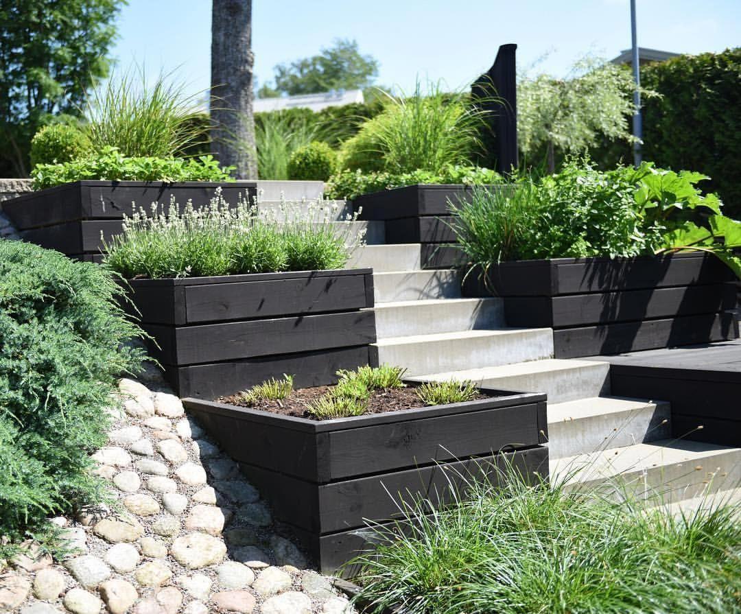 Photo of Sloping garden idea #slopinggardendecking