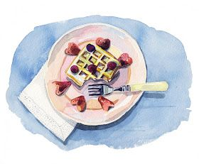Watercolour Illustrations - Holly Exley Illustrator: Breakfast Food Illustrations!