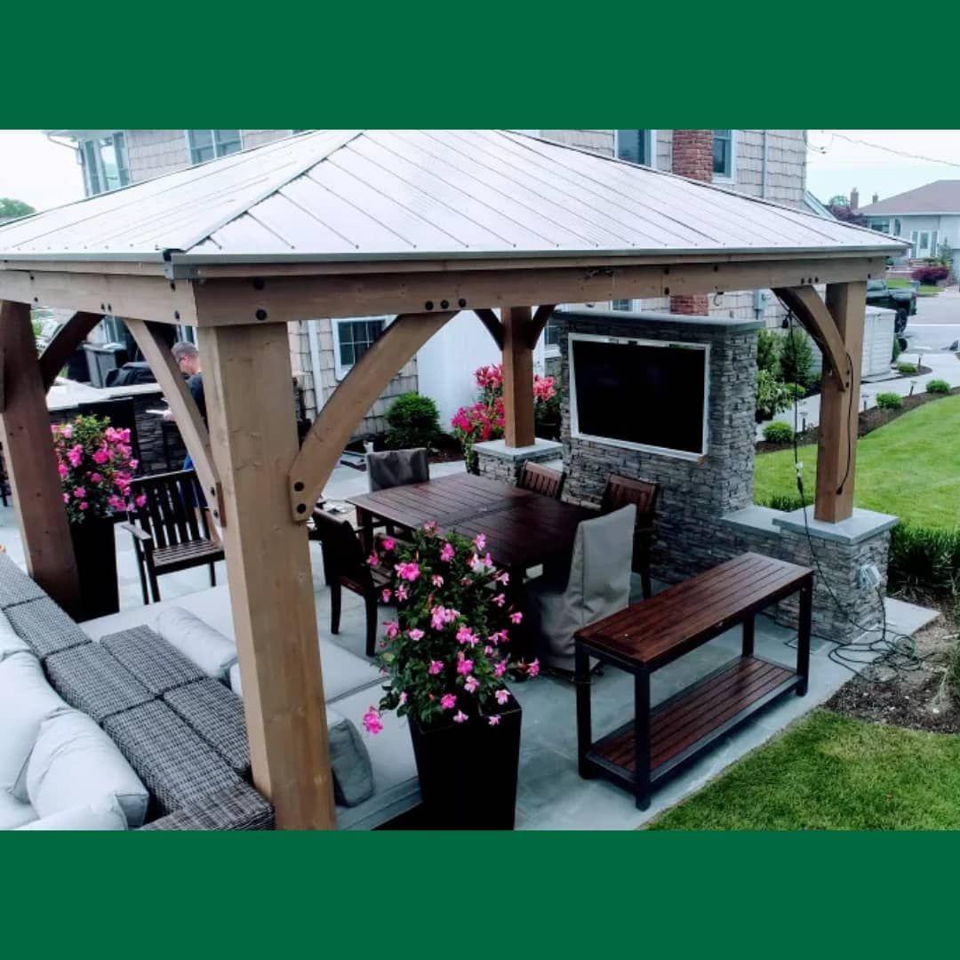 Costco pavilion | Backyard pavilion, Backyard gazebo ... on Yardistry Backyard Pavilion id=46444