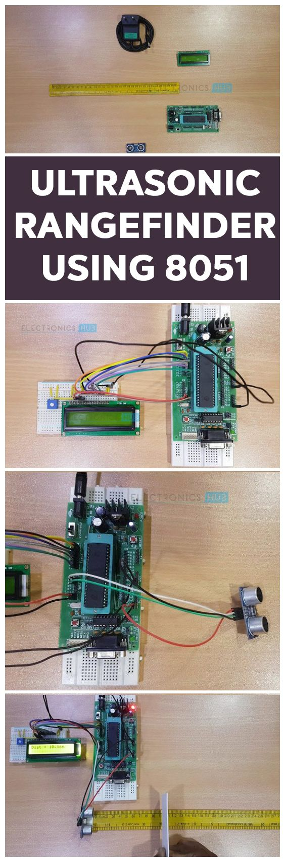 8051 Microcontroller Projects For Engineering Students How To Make Ultrasonic Rangefinder Project Using Arduino Manual Y Proyectosr Pinterest Electronics And Tech