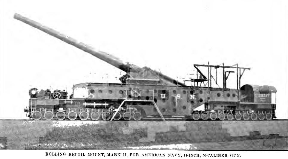 A railway gun, also called a railroad gun, is a large artillery piece, often surplus naval ordnance, mounted on, transported by, and fired from a specially designed railway wagon. Many countries have built railway guns, but the best known are the large Krupp-built pieces used by Germany in World War I and World War II. Smaller guns were often part of an armoured train.