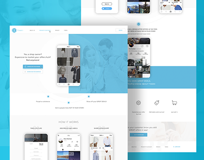 """Check out new work on my @Behance portfolio: """"Landing page for mobile application"""" http://be.net/gallery/48326215/Landing-page-for-mobile-application"""