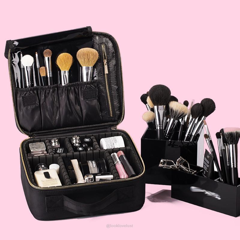 Professional Travel Makeup Bag Organizer -  - Makeup Tools, www.looklovelust.com - 2,  https://www.looklovelust.com/products/professional-travel-makeup-bag-organizer