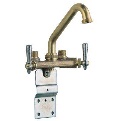 Waltec Rough Brass 2 Handle Laundry Faucet Faucet Utility Sink
