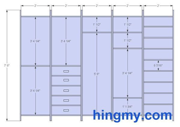 Designing a built-in closet | DIY Tips from Hingmy.com | Pinterest ...